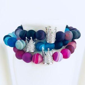 Queen Agate Beaded Bracelets
